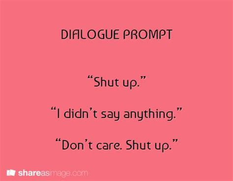 example of dialogue in an essay
